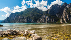 Lake view. Beautiful scenery captured in Lake Garda,Riva del Garda,Italy royalty free stock image