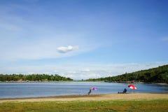Lake view blue sky Stock Image