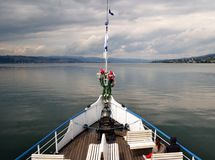 Lake view, Bow of Stadt Rapperswil Stock Image