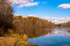 Lake view the end of Fall Royalty Free Stock Images