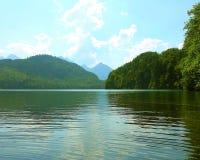 Lake. View at Hohenschwangau,  Germany Royalty Free Stock Photo