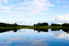 Lake view Ireland. With shannon river Royalty Free Stock Photo