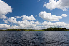 Lake view Ireland. With shannon river Royalty Free Stock Image
