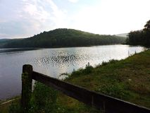 Lake View. Landscape of hills above a lake in  Harriman State Park, NY Stock Photos