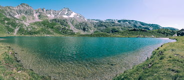 Lake view and mountain. Lake at rifugio chiavenna provincr of Sondrio. Trekking lombardia Stock Photos