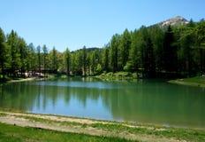 Lake. A view of Ninfa Lake (lago della Ninfa) near Sestola (Modena) in Italy Royalty Free Stock Images