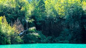 Lake view in Plitvice Lakes National Park Stock Images