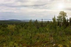 Lake View Pyaozero. North Karelia. Russia Royalty Free Stock Image