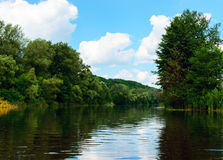 Lake View (River). On the banks of the green dense forest. Lake View (River). On the banks of the green dense forest Stock Images