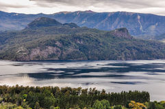 Lake view, Road of the Seven Lakes, Argentina Stock Image