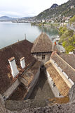 Lake View from the roof of Chilion Castle Royalty Free Stock Images