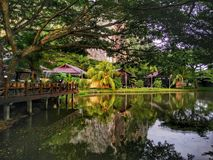 A Lake View in Keriang Hill Resort, Alor Setar, in state of Kedah, Malaysia stock photo