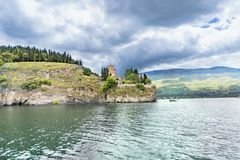 Lake view of St Kaneo ancient church and landmark in the city of Ohrid royalty free stock images