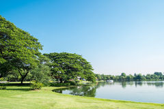 Lake view at Suan Luang Rama 9 Park Royalty Free Stock Images