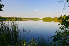 Lake. View on a lake during sunny day Royalty Free Stock Images