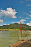 Lake view. In sunny day Stock Image