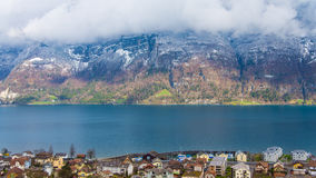Lake view from Switzerland. In spring Royalty Free Stock Image