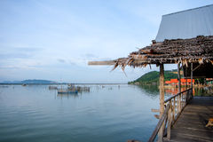 Lake view in Thailand. Clear sky lake view in Thailand royalty free stock photo