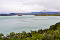Lake view, Torres del Paine National Park, Chile. View of a nice lake in the Torres del Paine National Park, Patagonia, Chile stock photo