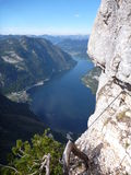 Lake view from via ferrata seewand klettersteig Royalty Free Stock Photos
