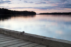 Lake viewed from jetty Royalty Free Stock Photos