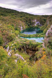 Lake viewpoint Plitvice Royalty Free Stock Images