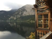 Lake views of Hallstatt. Afternoons spent admiring the views in Stock Image