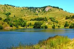 Lake in the village Rosia Montana, Transylvania Royalty Free Stock Image