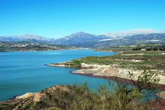 Lake Vinuela, Andalusia, Spain. Royalty Free Stock Photo