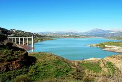 Lake Vinuela, Andalusia, Spain. Stock Image