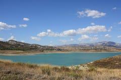 Lake Vinuela ( Spain ) royalty free stock image