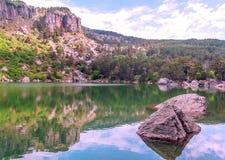 Lake of Vinuesa Stock Photo