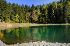 Lake Vodarenska in Banska Stiavnica Stock Photo