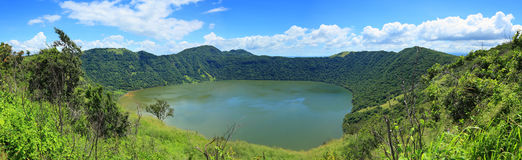 Lake in volcanic crater Royalty Free Stock Photo