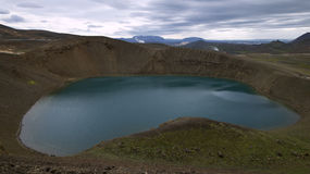 Lake in the Volcanic Crater Royalty Free Stock Images
