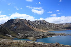Lake and volcanic landscape, Landmannalaugar, Iceland Royalty Free Stock Images