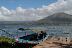 Lake and volcano Batur Royalty Free Stock Photos