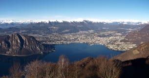2013-Lake von Lugano Lizenzfreie Stockbilder