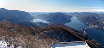 2013-Lake von Lugano Lizenzfreie Stockfotografie