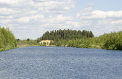 Lake. In Voskresensky district Royalty Free Stock Photos