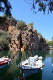 Lake voulismeni crete Stock Image