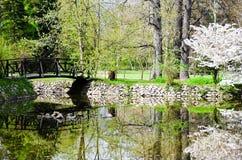 Lake in Vrana Palace at spring time Royalty Free Stock Photo