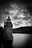 Lake Vyrnwy, Wales, in sepia tones Stock Images