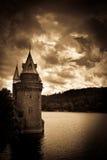 Lake Vyrnwy Welsh water tower Julian Bound Royalty Free Stock Photo
