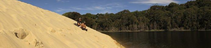 Lake Wabby, Fraser Island, Queensland, Australia stock images