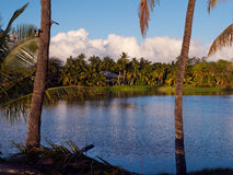 The lake at Waialua Bay Haleiwa Harbor Hawaii Stock Photography