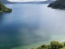 Lake Waikaremoana in Urewera NP North Island of NZ Royalty Free Stock Images