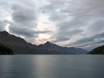 Lake Wakatipu. View from Queenstown, New Zealand Stock Photography
