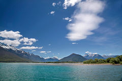 Lake Wakatipu with exceptional clouds Stock Image