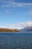 Lake Wakatipu at Glenorchy New Zealand. Beautiful day looking over Lake Wakatipu at Glenorchy New Zealand Stock Photo